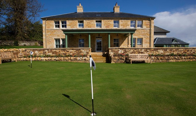Highlands, Skotland, Links House at Royal Dornoch